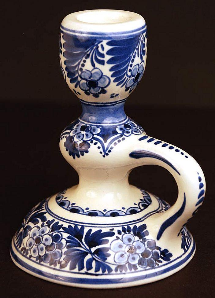 Vintage Delft Candlestick