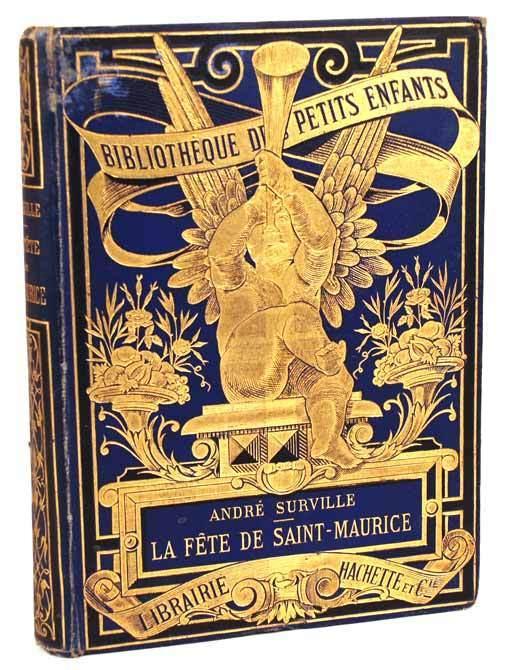 """Antique French Book, """"Bibliotheque des Petits Enfants (La Fete de Saint-Maurice)""""  circa 1890"""