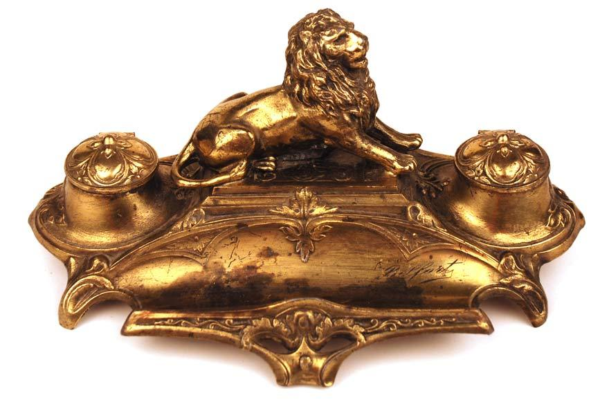 Bronze French Figural l'Encrier (Inkwell)