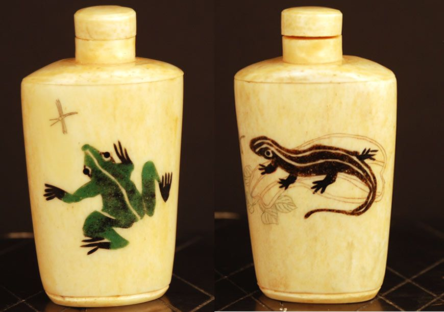 Antique Chinese Bone Snuff Bottle