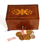 Antique Nineteenth Century Marquetry French Box/Bank