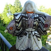Vintage Japanese Kimekomi Doll of Noh Theatre Character