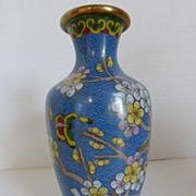 Vintage Cloisonné Cherry Blossom Vase