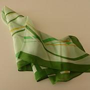 Vintage Silk Chiffon Scarf
