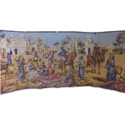 Fabulous Vintage Tapestry - Mid-Eastern, North African Market Scene