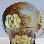 """Vintage Norcrest China """"Wild Cactus"""" Cup and Saucer"""