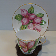 Vintage 1950's Royal Stafford 'Pink Trillium' Cup and Saucer