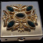Vintage 1960s Rhinestone Embellished Pill Box