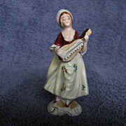Occupied Japan Figurine Woman and Instrument