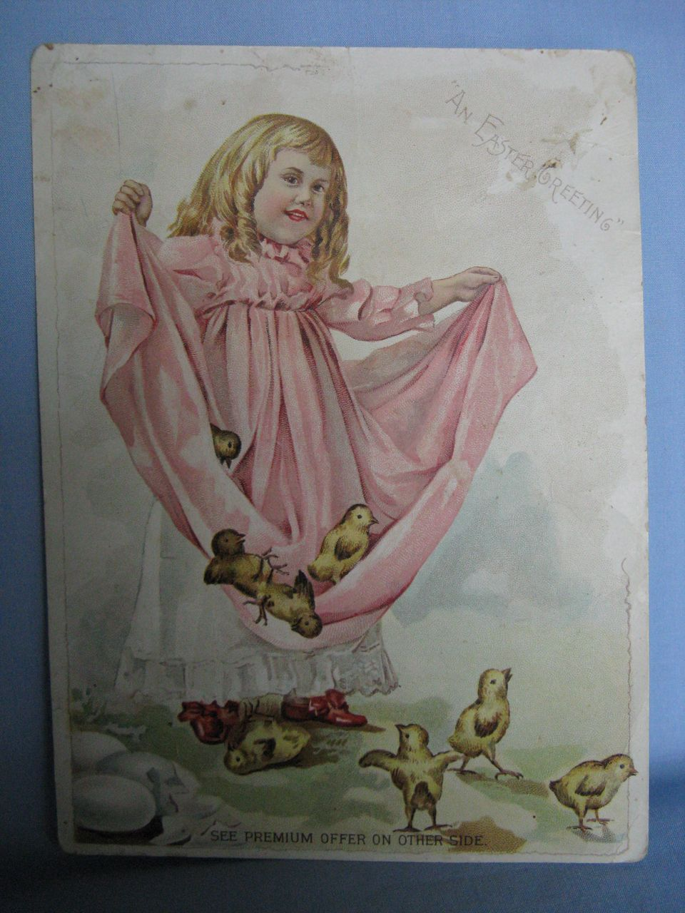 Advertising Trade Card Woolson Spice Co., Lion Coffee An Easter Greeting