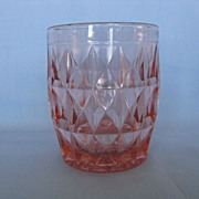 "Jeannette Glass Pink Windsor ""Windsor Diamond"" 5oz Tumbler"