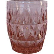 Depression Glass Pink Windsor Juice Tumbler