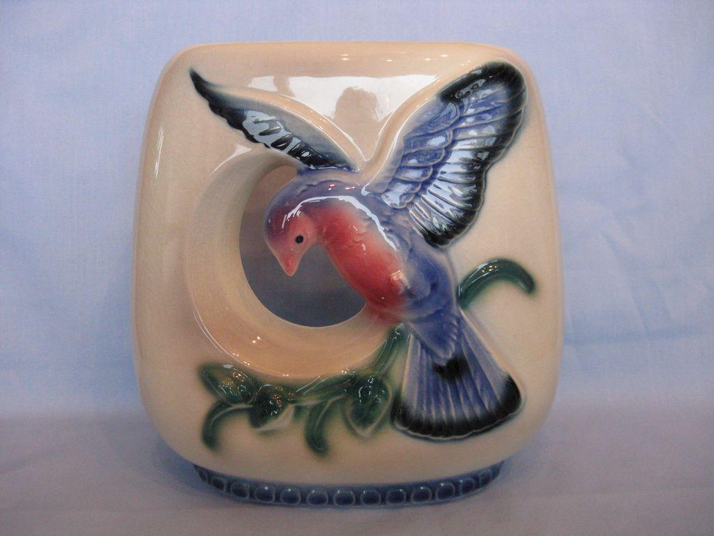 Royal Copley Bird In Flight Open Vase Planter