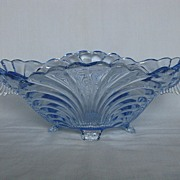 Cambridge Glass Midnight Blue Caprice Oval Bowl