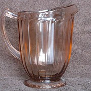 Depression Glass Pink Sierra Pitcher