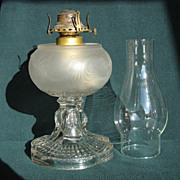 Teardrop With Eyewinker With Plume Font Oil Lamp