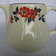 "Hall China Red Poppy ""Radiance"" Jug #5 or Pitcher"
