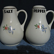 Hall China Wildfire Handled Salt & Pepper Shakers