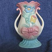 """Hull Pottery Bow-Knot Vase """"B-7-8-1/2"""""""