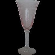Tiffin Glass Flanders Pink Water Goblet