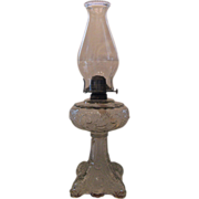 Tall Princess Feather Oil Lamp