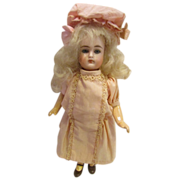 "K*R  #192 Bisque Head Doll Charmer 7 1/2""  - All Original!"