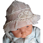 Lovely French Tulle and Soutache Bonnet for Your Antique Doll!