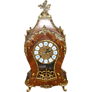 Cyber Monday Franz Hermle Gilt Bronze and Wood Inlaid Vintage Clock in French Rococo Style!