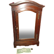 RARE Small French Doll Armoire Loaded w/ Antique Linens!