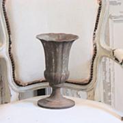 19th Century French Cast Iron Tulip Garden Urn