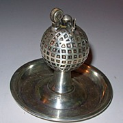 Vintage Golf Ball Sterling Table Lighter