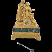 19th Century French Bronze Statue Clock