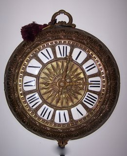 French Brass Wall Clock in the Form of a Pocket Watch