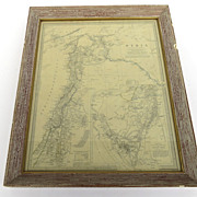 Vintage Framed Map of Syria