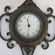 Iron Polychrome Clock by Seth Thomas