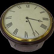 English Mahogany Clock with Fusee Movement