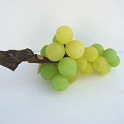 Mid Century Large Marble Grape Cluster Stone Fruit