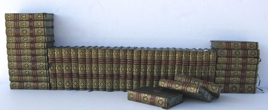 45 Volumes Scott's Novel Leather Bindings