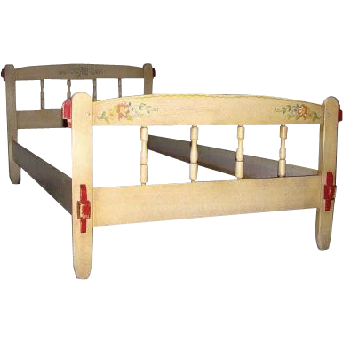 Pair of Monterey Style Twin Beds by Hacienda