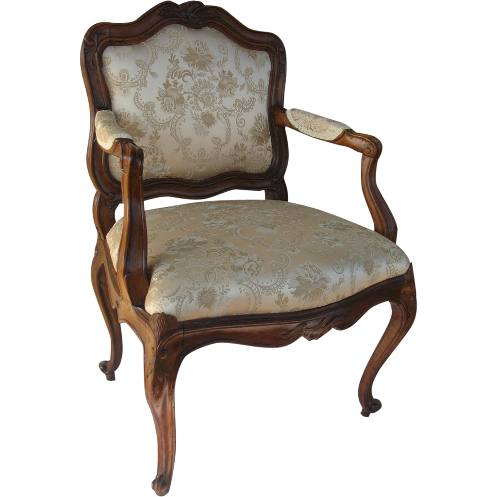 Italian 18th Century Carved Arm Chair
