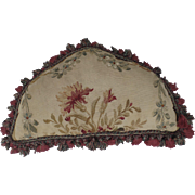 Aubusson Shaped Pillow Cushion with Fringe