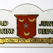 Beveled Glass Jewelry Repair Sign