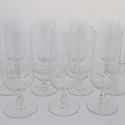 Vintage Set of 10 Baccarat Tall Glasses