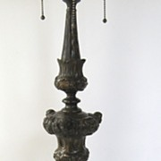 Wonderful Repousse Italian Pricket Stick now as Lamp