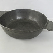 French Pewter Porringer 18th Century