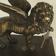 Bronze Winged Lion 19th Century