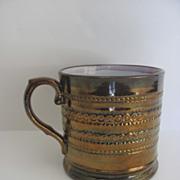 English Copper Luster Mug 19th Century
