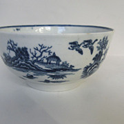 18th Century Worcester Blue and White Bowl Fence Pattern