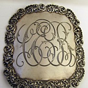 Sterling Victorian Large Belt Buckle