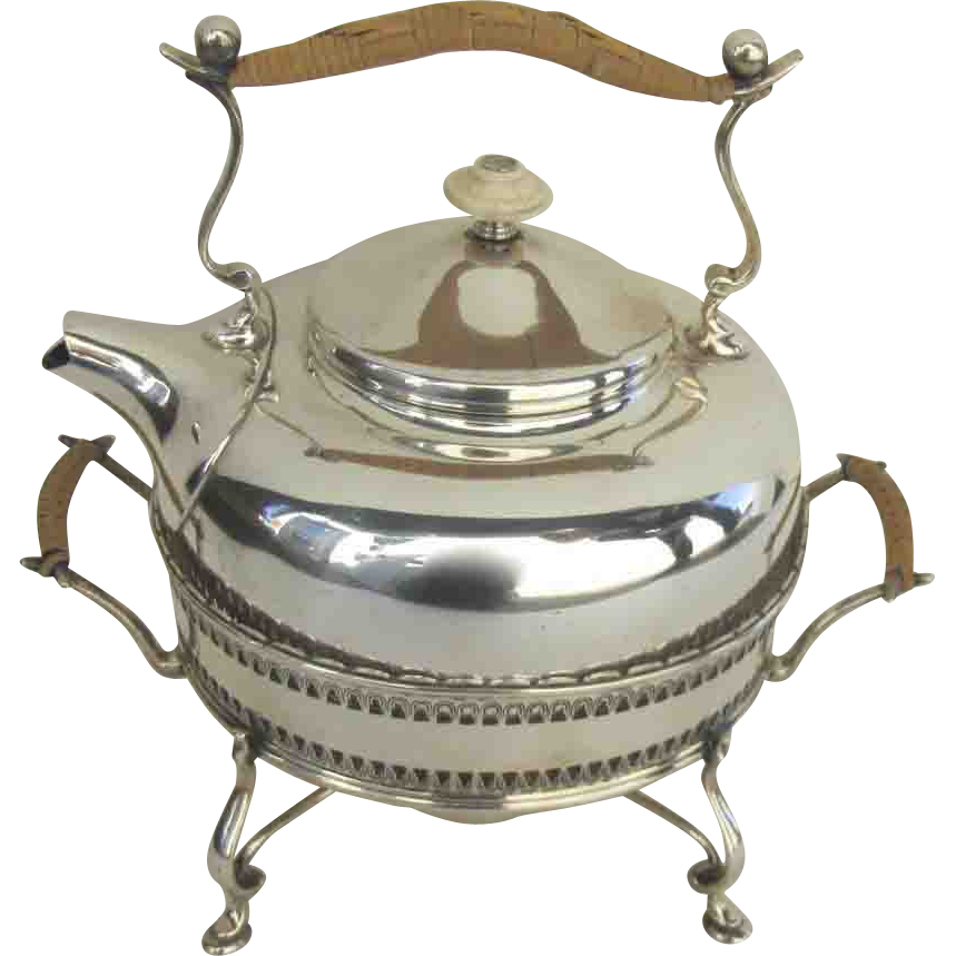 Sterling Silver Teapot and Stand by Baldwin and Miller